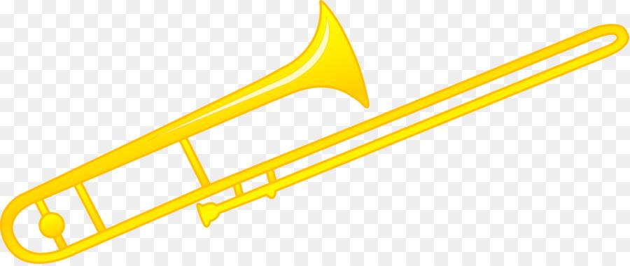 Trombone clipart. Musical instrument brass clip