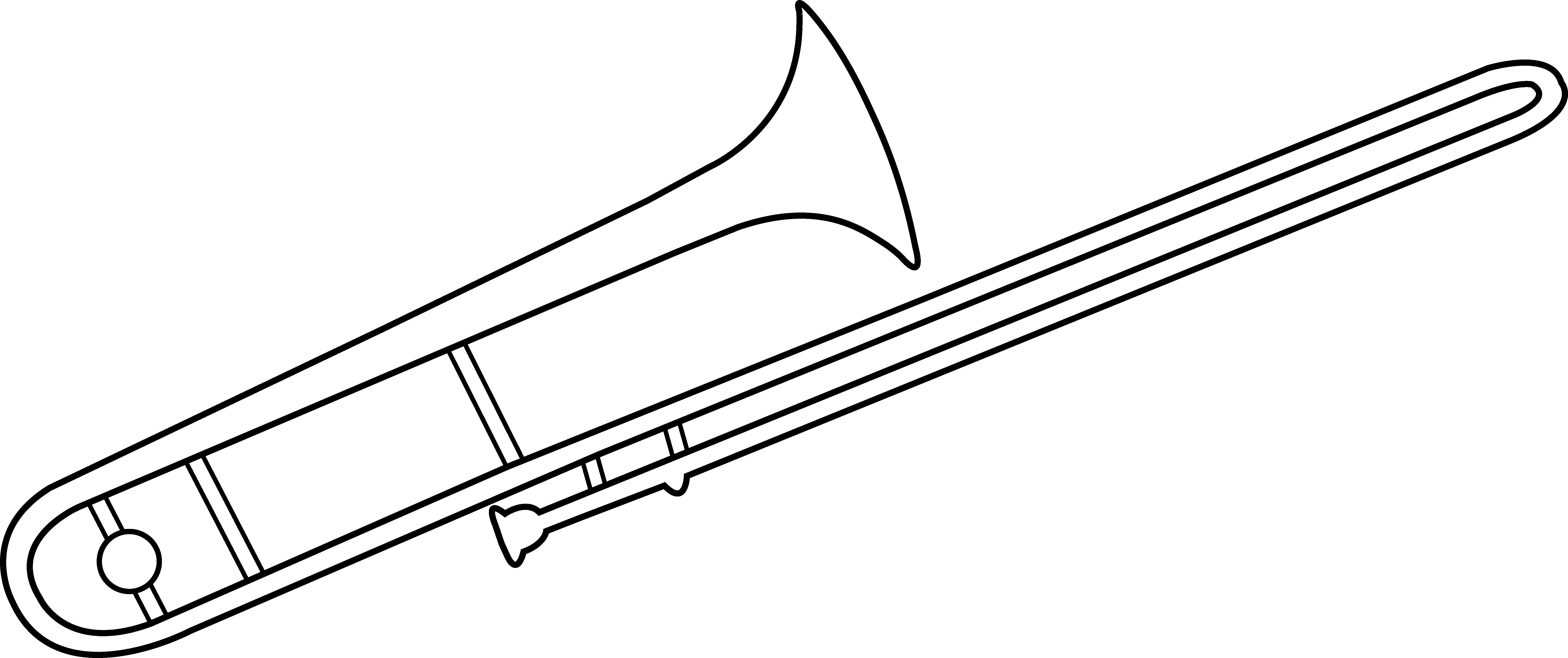 Trombone art free clip. Door clipart line drawing