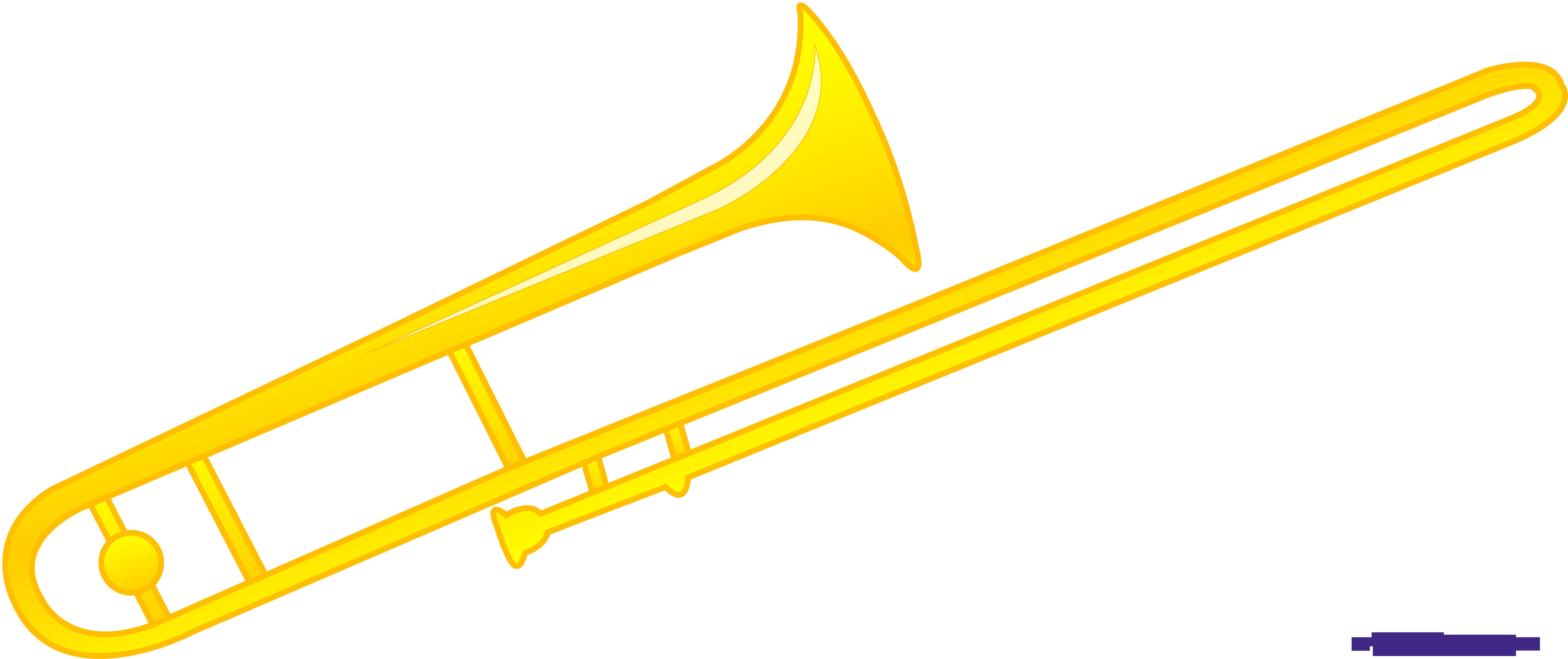 Sweet clip art. Trombone clipart