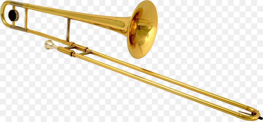 Trombone clipart. Brass instruments musical trumpet