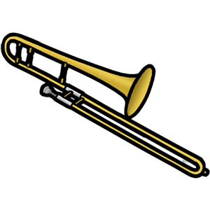 Trombone clipart. Free clip art image