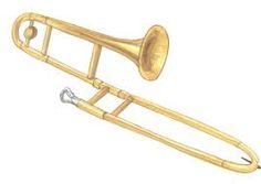 Trombone clipart. Free clip art black