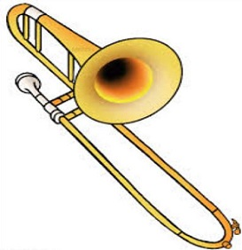 Trombone clipart. Free