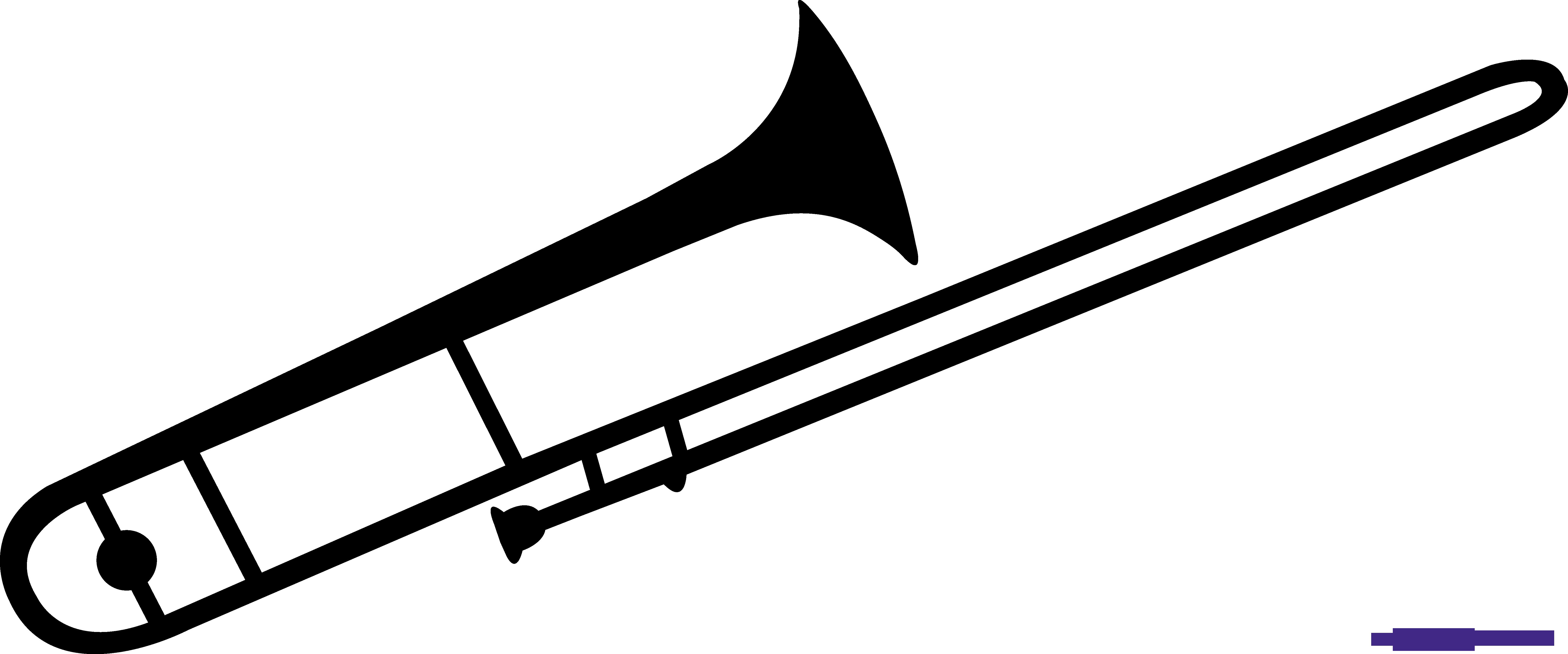 Trombone clipart black and white. Silhouette sweet clip art