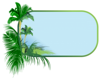 Tropical border png. Leaves clipart at getdrawings