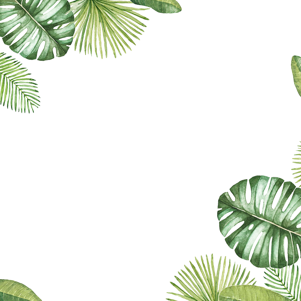 Leaves frame ftestickers. Tropical border png