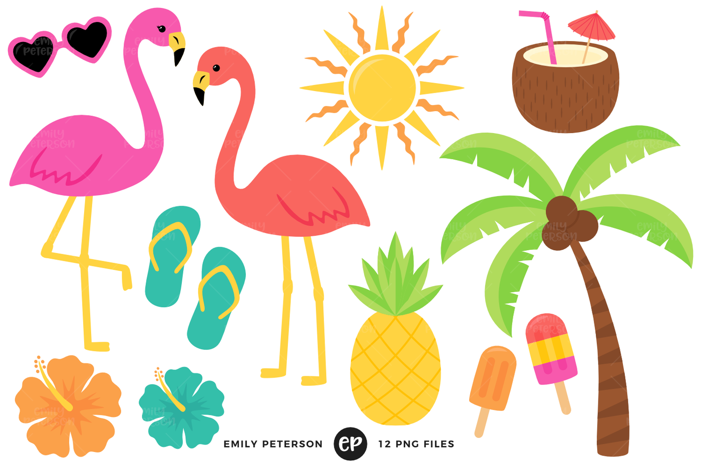 By emily peterson studio. Tropical clipart