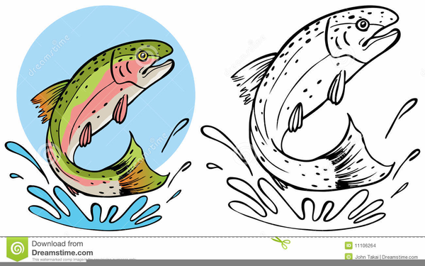 Trout clipart. Jumping free images at