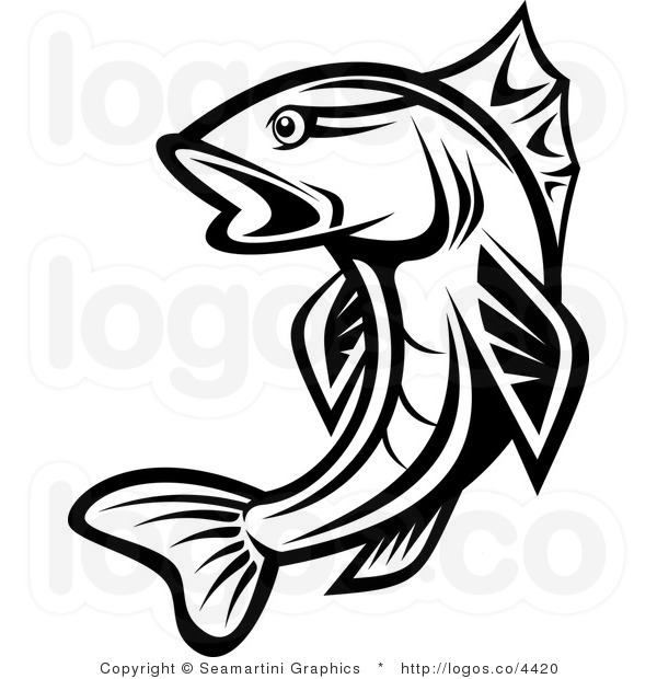 Fishing panda free images. Trout clipart