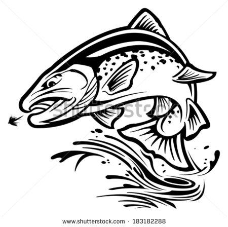 Jumping silhouette at getdrawings. Trout clipart