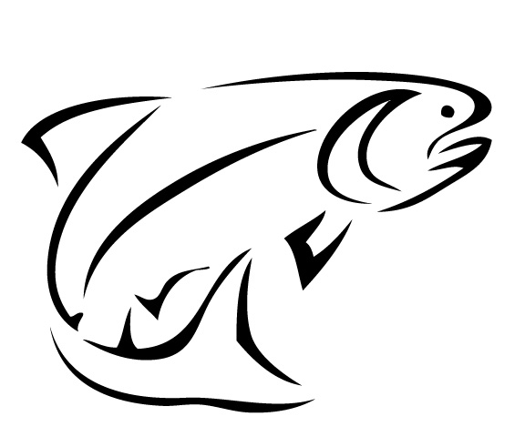 Fish silhouette at getdrawings. Trout clipart