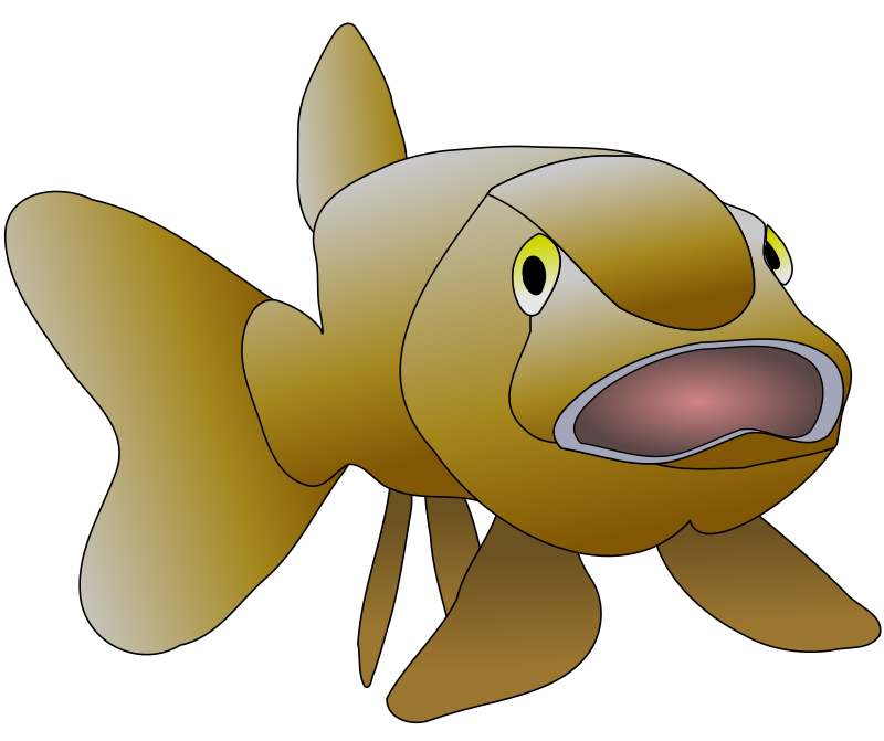 collection of brown. Trout clipart animated