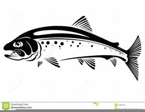 Free images at clker. Trout clipart black and white