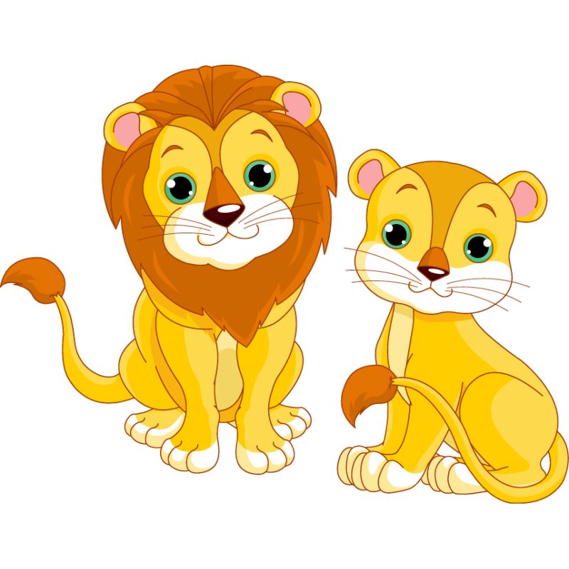 Trout clipart cartoon. Lioness two lion free