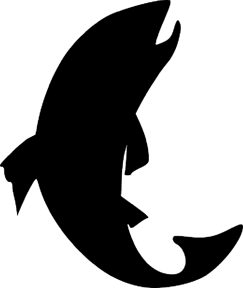 Fish silhouette clip art. Trout clipart largemouth bass