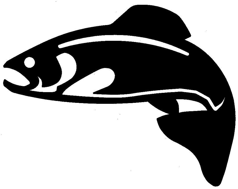 Trout clipart silhouette. Free download clip art