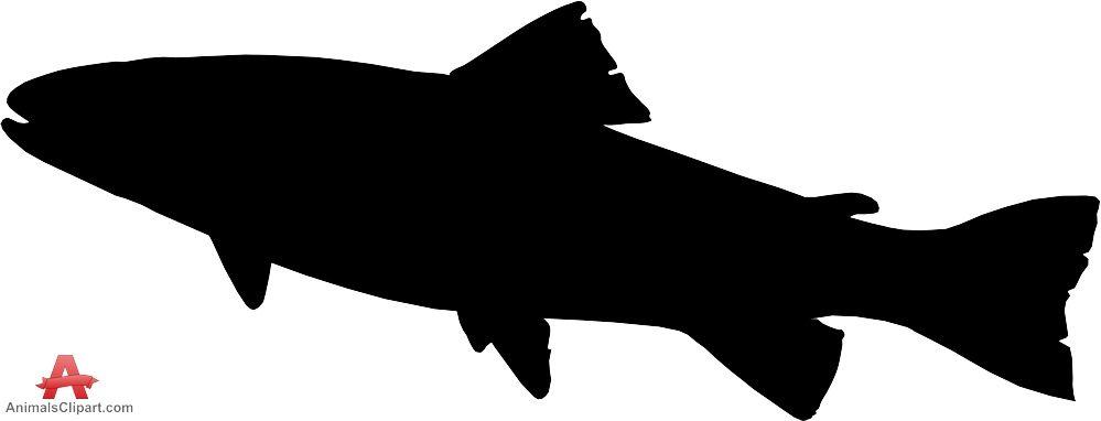 Trout clipart silhouette. Fish free design clip