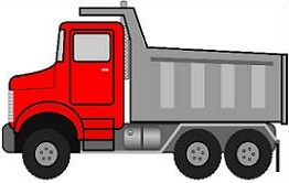 Free construction dump. Truck clipart