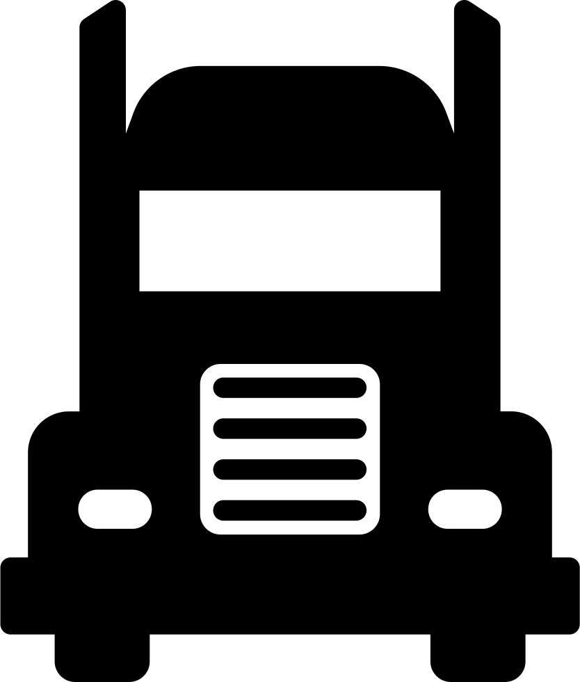 Frontal svg free download. Truck icon png