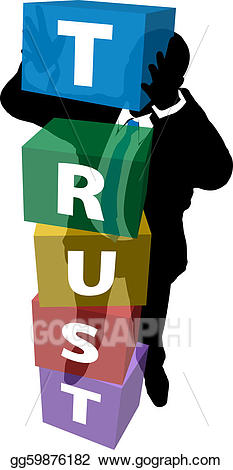 Vector stock business person. Trust clipart build