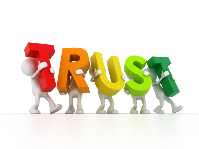 Trust clipart building trust. With co workers managingamericans