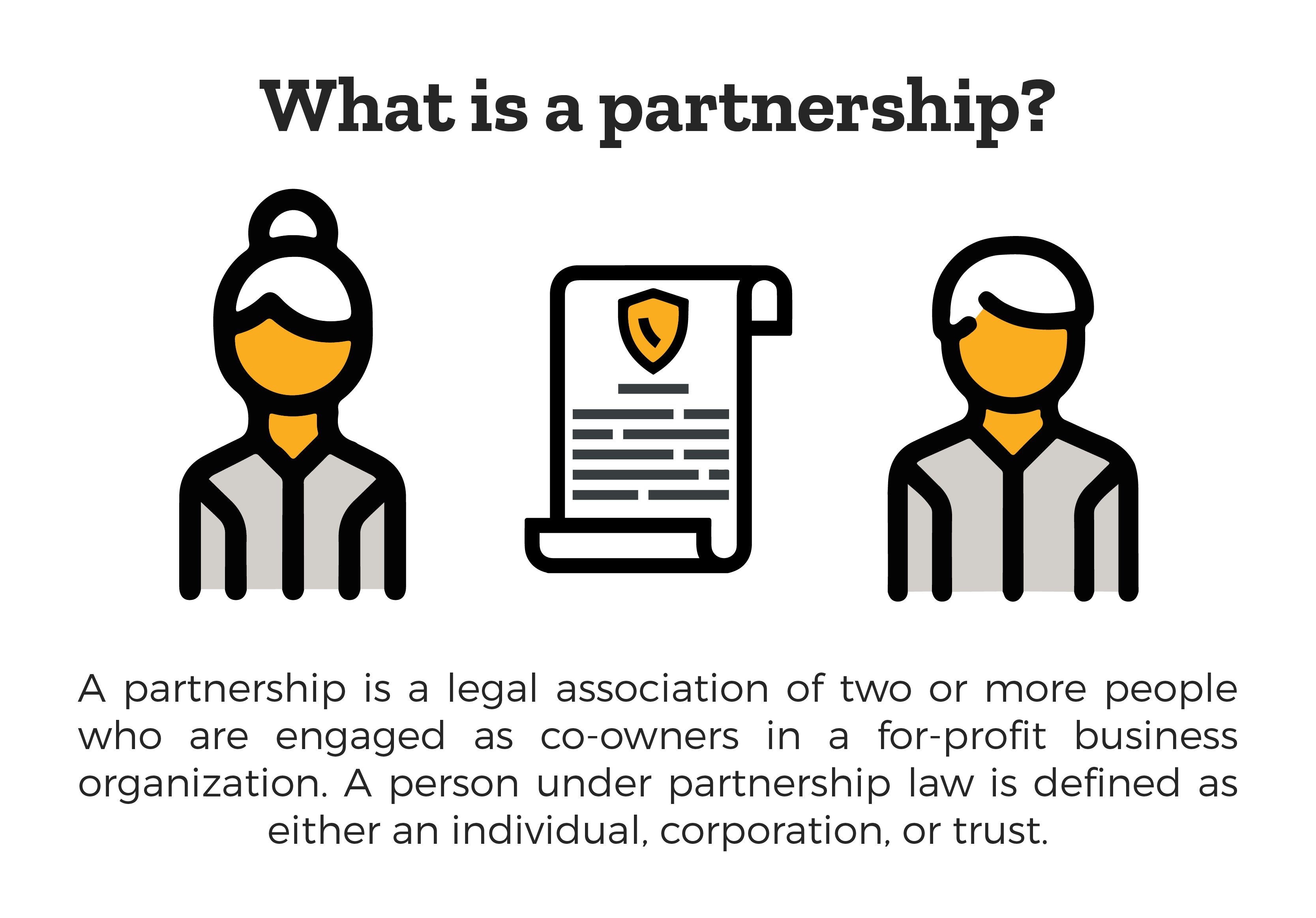 Trust clipart business organization. Partnerships explained lawsuit org