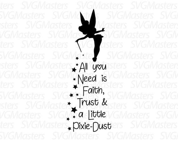 And a little pixie. Trust clipart faith