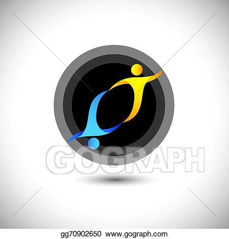 Trust clipart give and take. Clip art vector concept