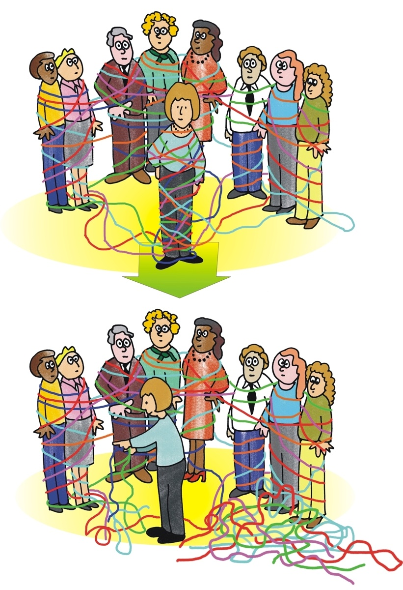 Trust clipart group conflict. Are and blame tangling