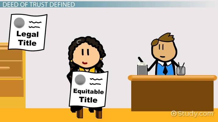 What is a deed. Trust clipart role conflict