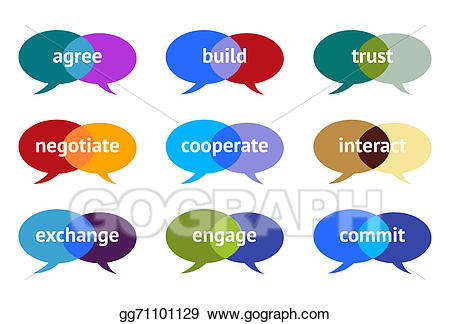 Stock illustrations proactive remarks. Trust clipart similarity