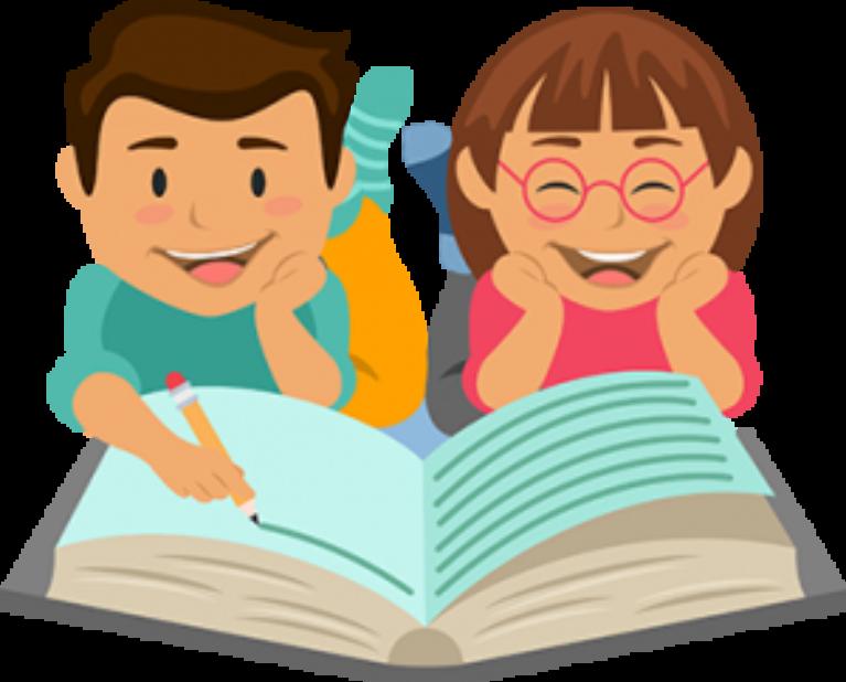 Link academy trust writers. Clipart reading homework