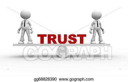 Trust clipart tag team. Stock illustration concept gg
