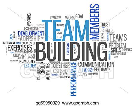 Stock illustration word cloud. Trust clipart tag team