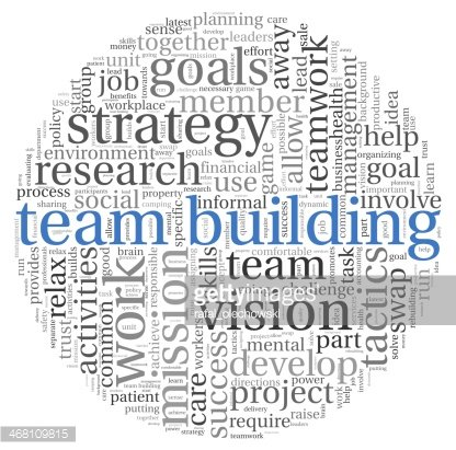 Building concept in word. Trust clipart tag team