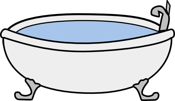 Bath clipart. Tub