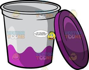 An empty of . Yogurt clipart yogurt tub