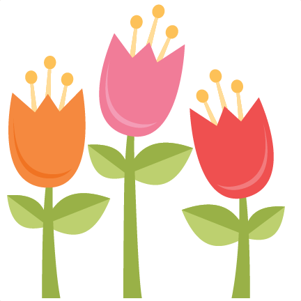 Spring svg scrapbook cut. Tulips clipart