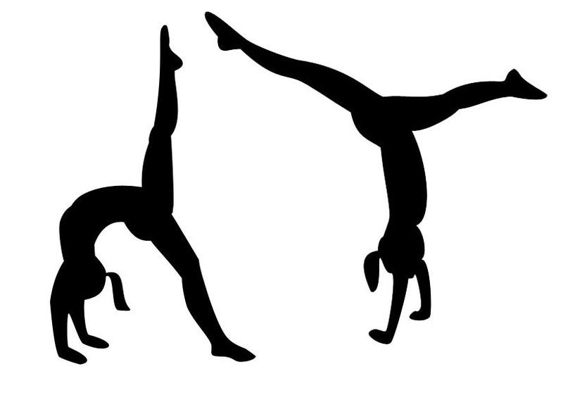 Tumbling clipart. Clip art tumblinggymnastspreview dancetumblingcheer