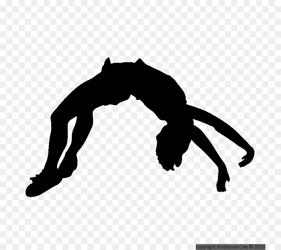 Tumbling clipart. Silhouette cheerleading gymnastics clip