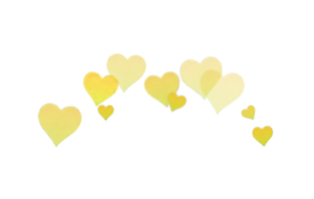 Hearts png tumblr. Yellow heart overlay edit