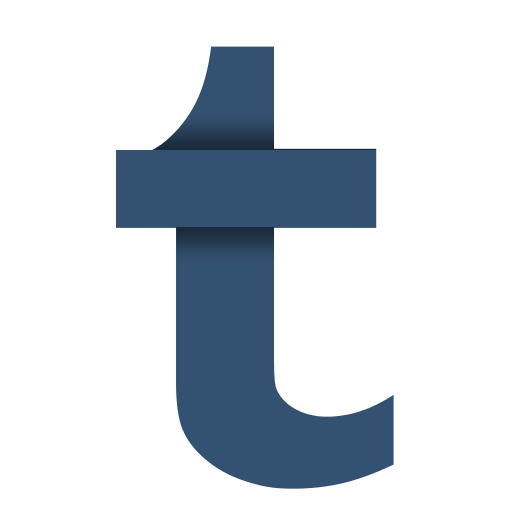 Tumblr icon png. Social papercut by ploup
