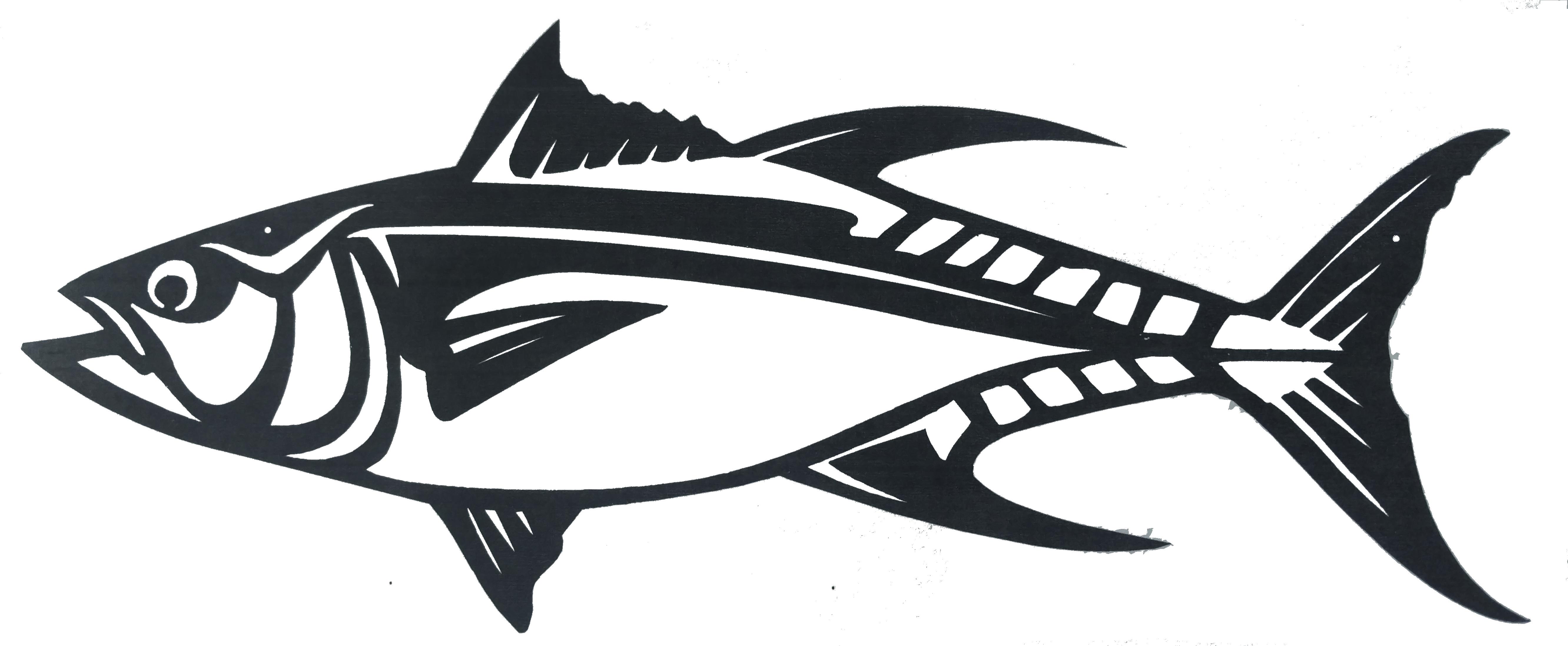 Plasma cut fish gift. Tuna clipart aluminum