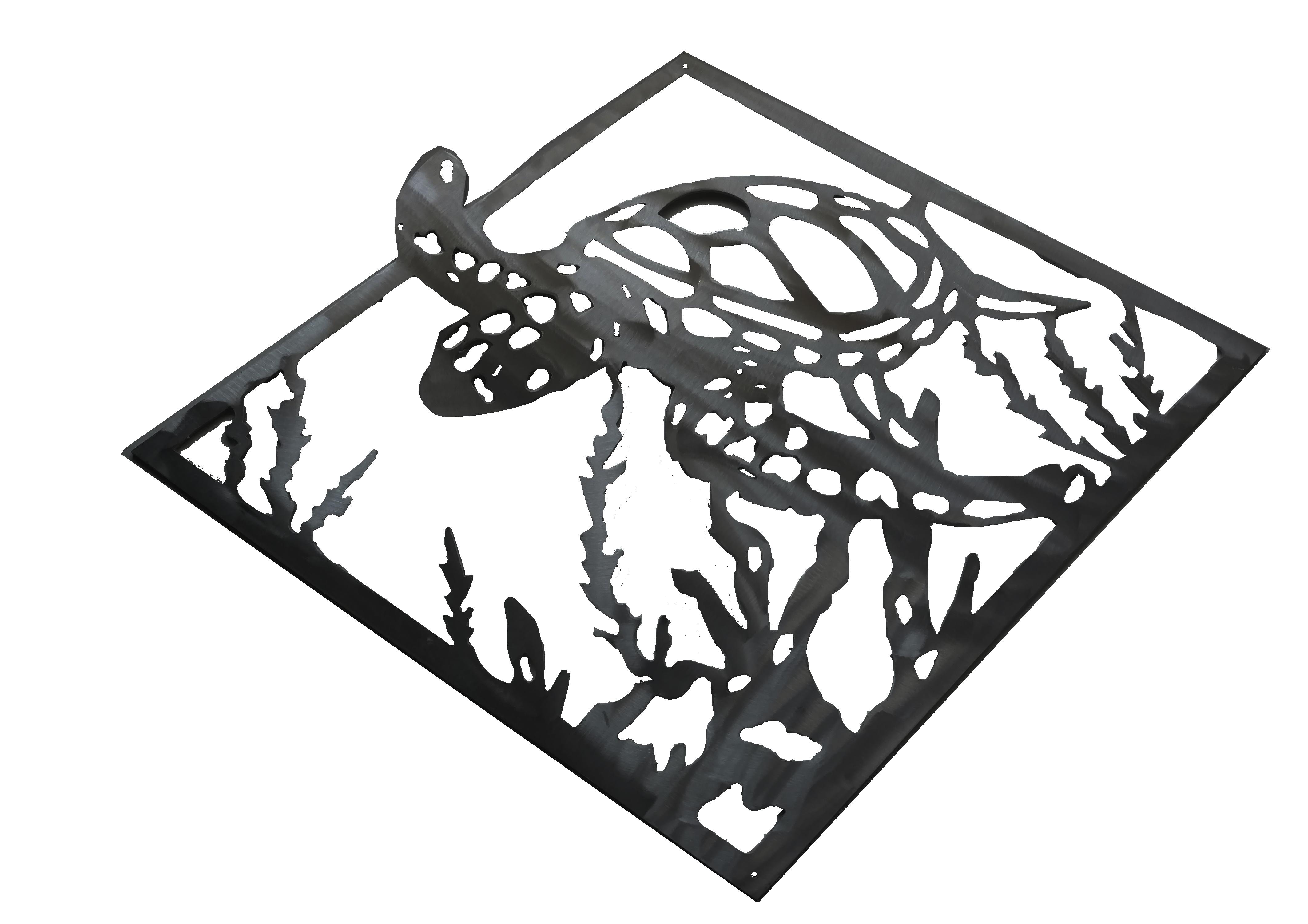 Tuna clipart aluminum. Sea turtle made from