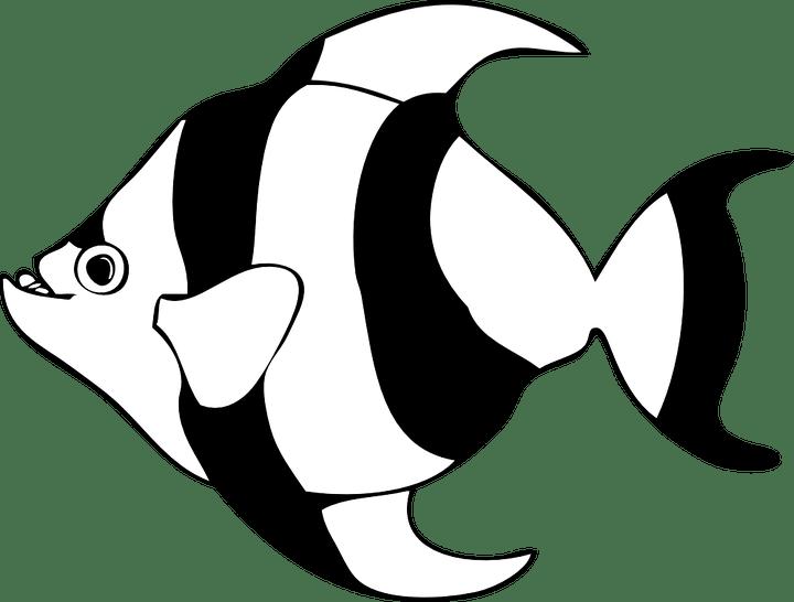 Tuna clipart black and white. Fish images joshview co
