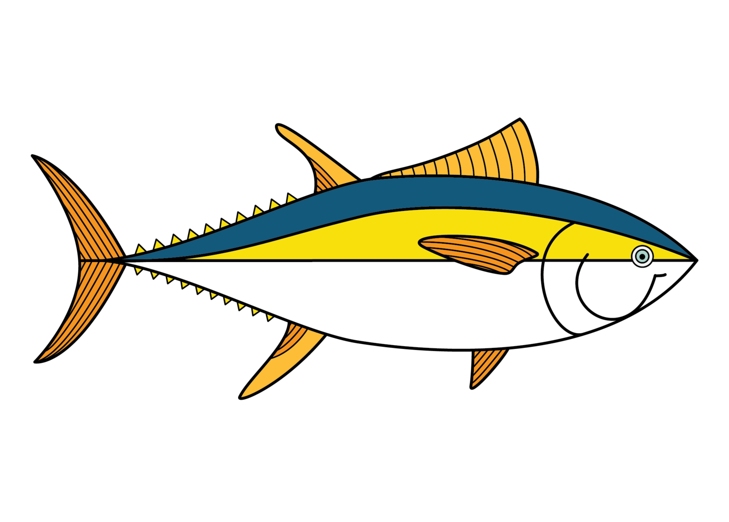 Yellowfin pools . Tuna clipart bonito