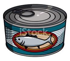 Tuna clipart canned tuna. Stock vectors me