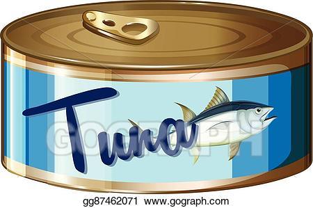 Tuna clipart canned tuna. Vector stock in aluminum