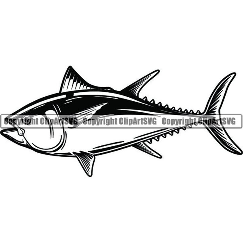 Fish fishing angling salt. Tuna clipart commercial