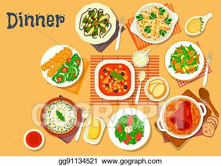 Tuna clipart dinner. Vector illustration icon with